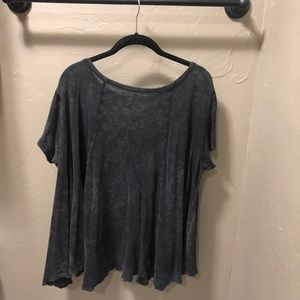 Free People Tops - Free People We the Free Charcoal Tee